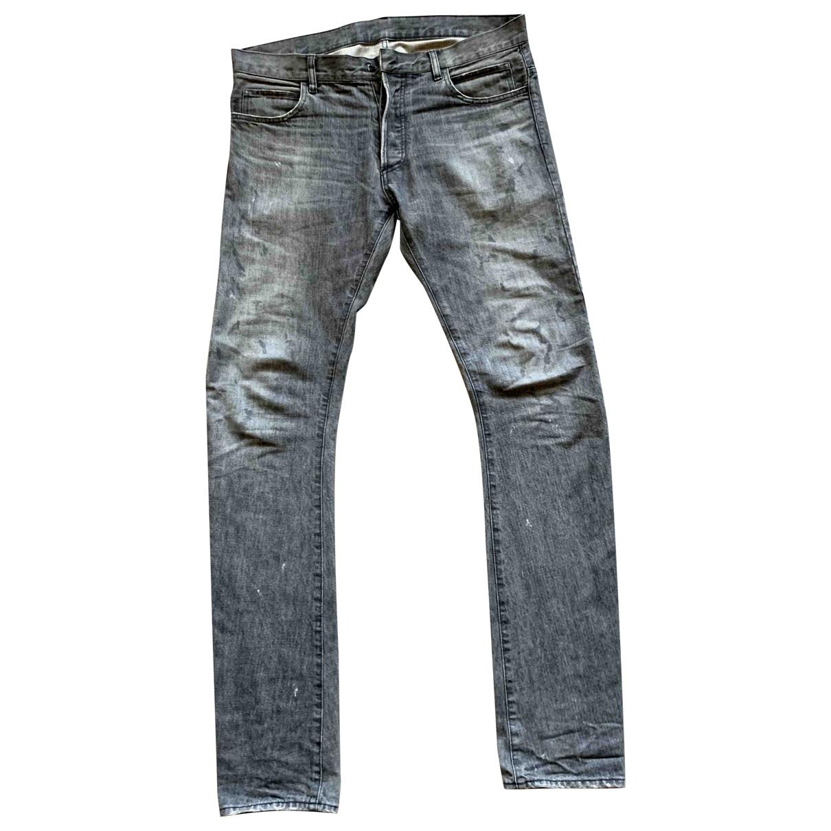 Balmain \N Grey Cotton Jeans for Men 33 US