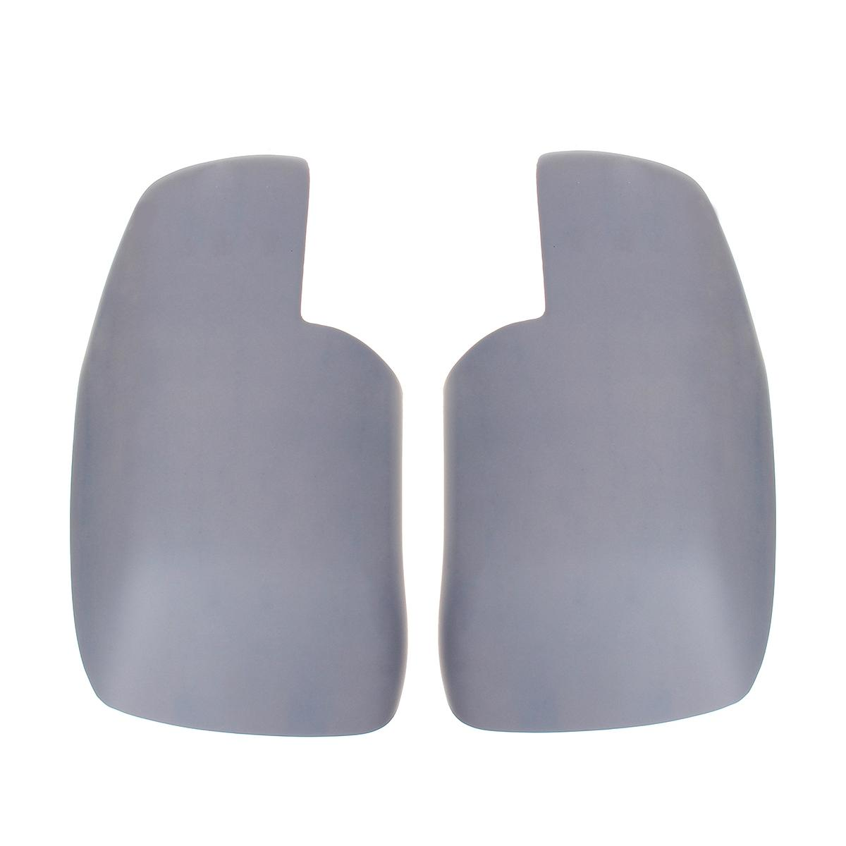 Pair Primer Wing Side Mirrors Covers For Land Rover Discovery 3 Freelander 2