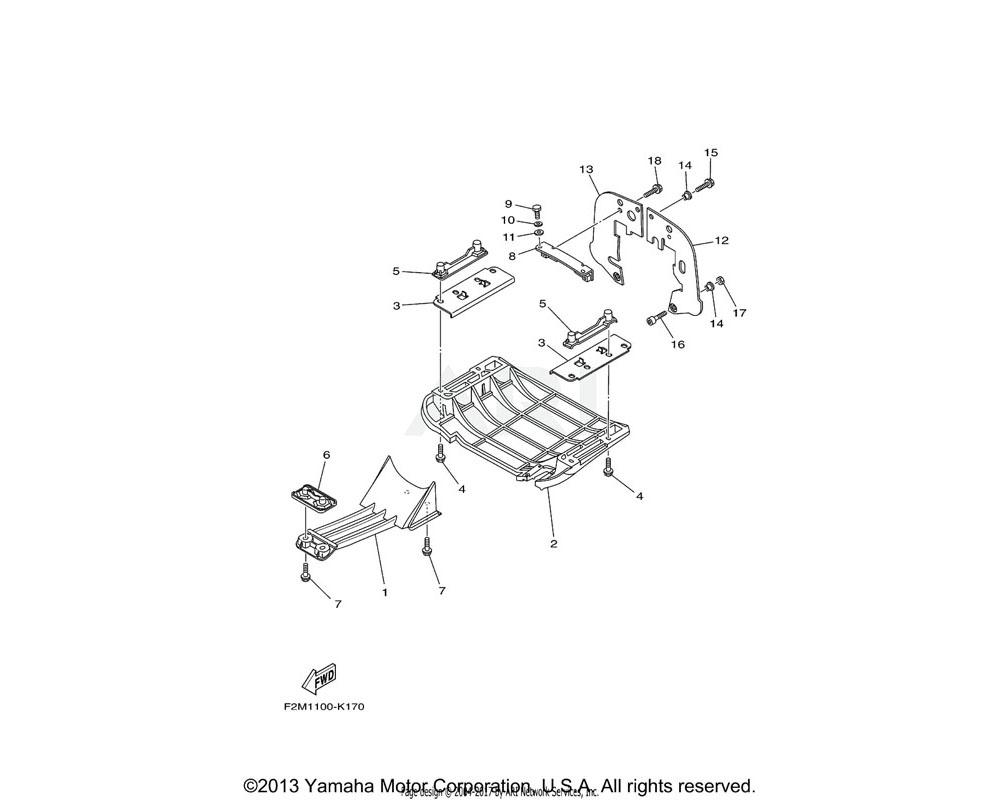 Yamaha OEM F1K-U273B-06-00 PLATE 2