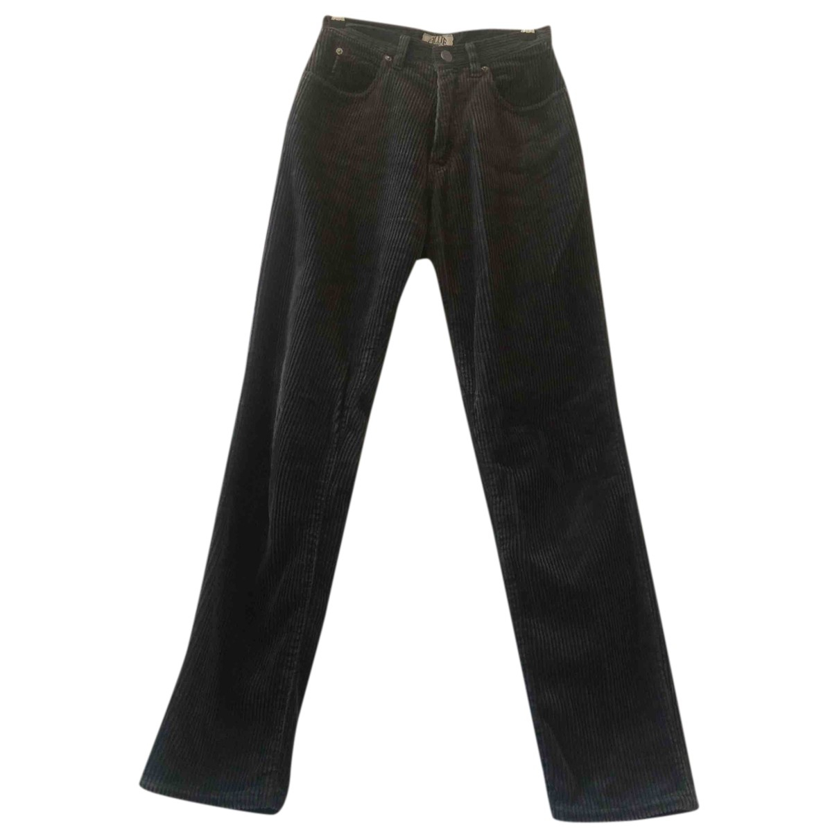 Armani Jeans N Grey Cotton Trousers for Women 38 FR