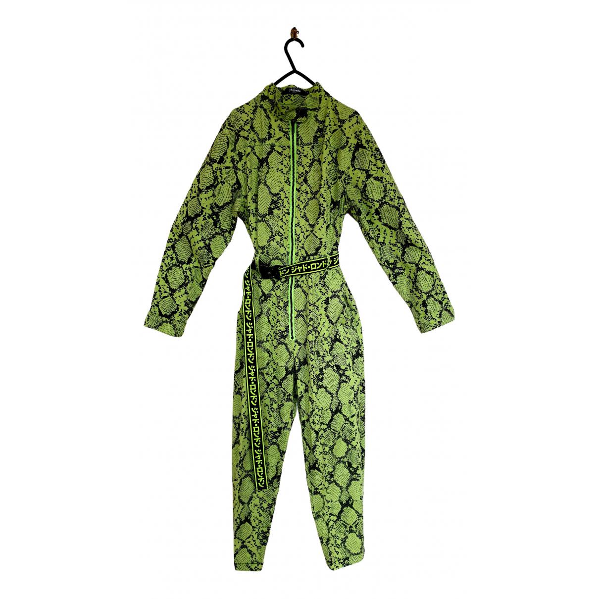 Jaded London - Combinaison   pour femme en coton - vert