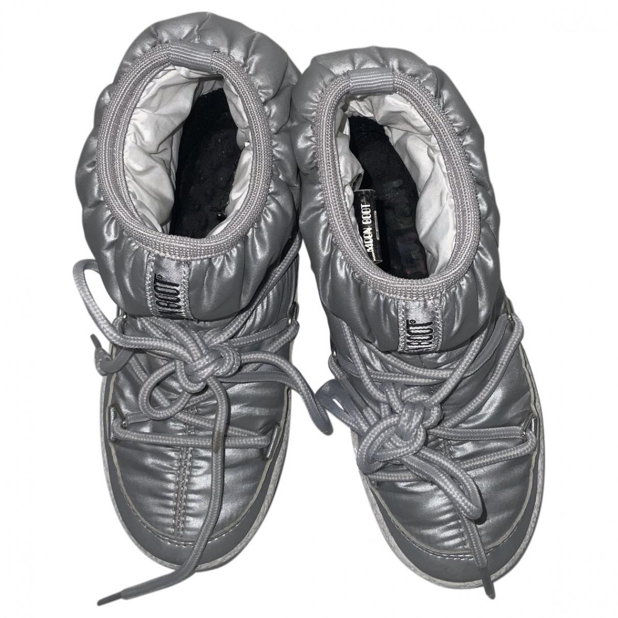 Moon Boot - Bottes.Bottines   pour enfant - gris