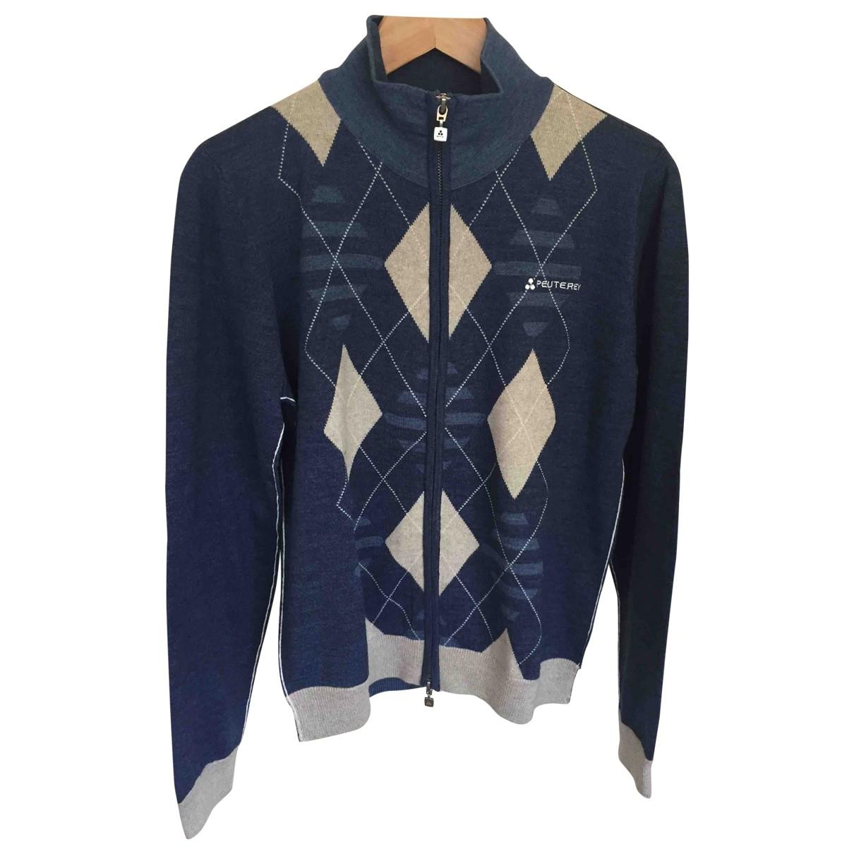 Peuterey \N Pullover.Westen.Sweatshirts  in  Marine Wolle