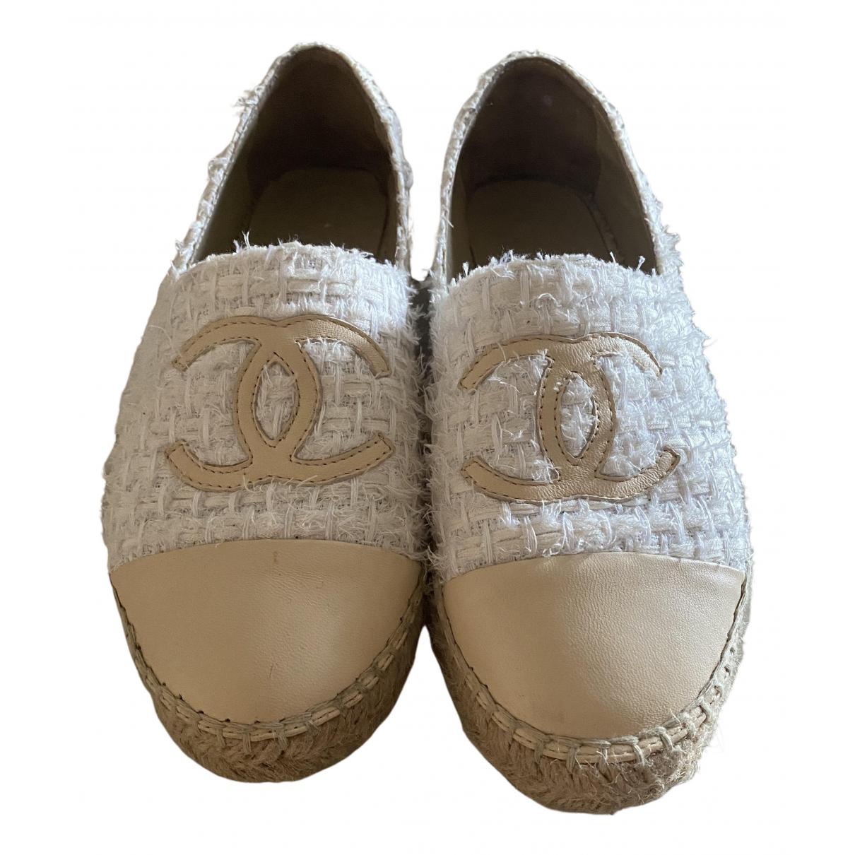 Chanel \N Espadrilles in  Beige Leinen