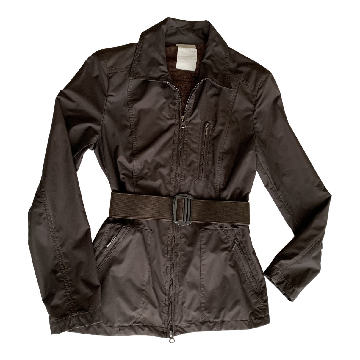 Non Signé / Unsigned N Brown jacket for Women 36 FR