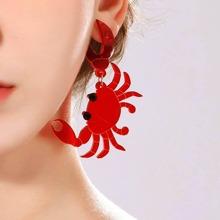 1 Paar krabbenformige Ohrringe