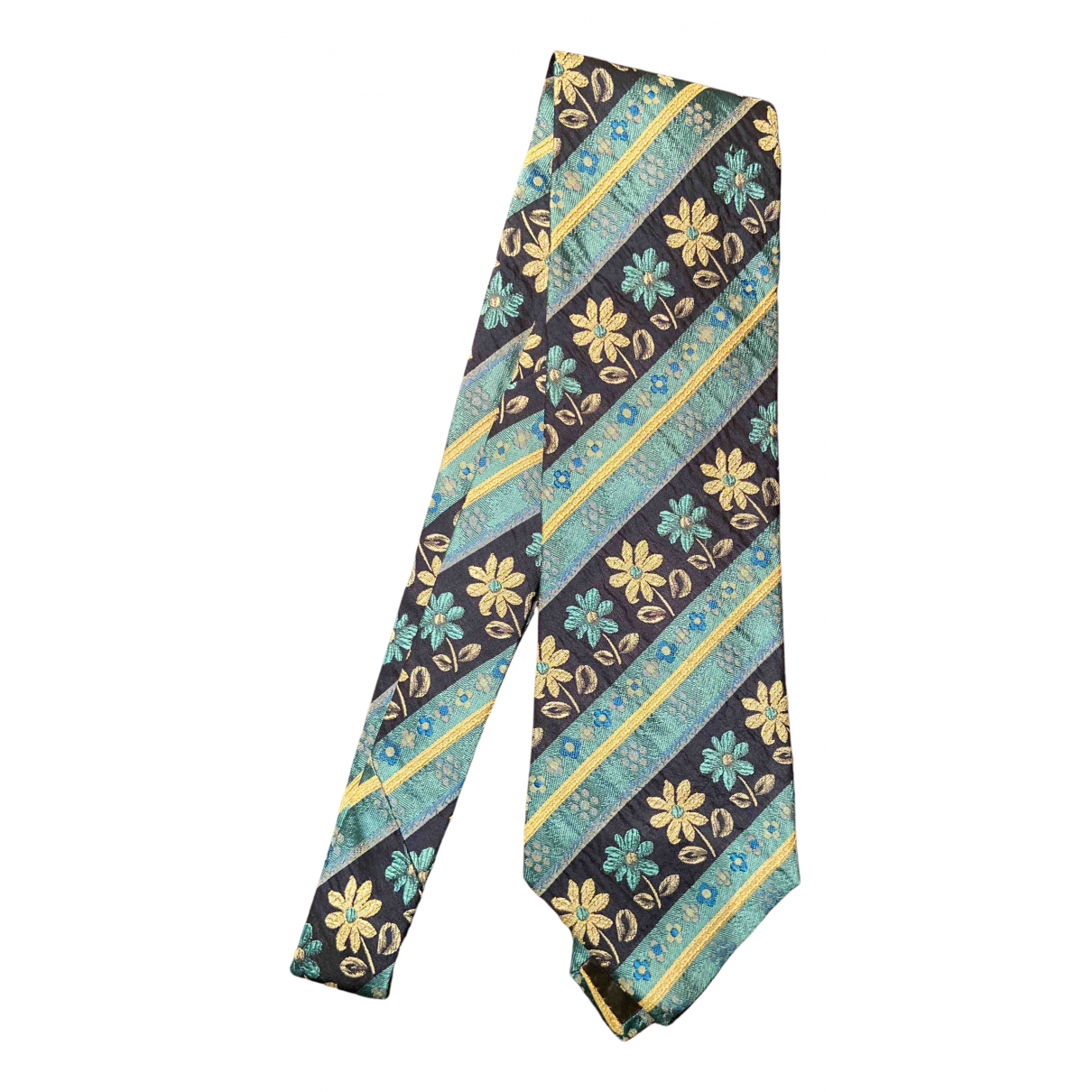 Kenzo N Turquoise Silk Ties for Men N