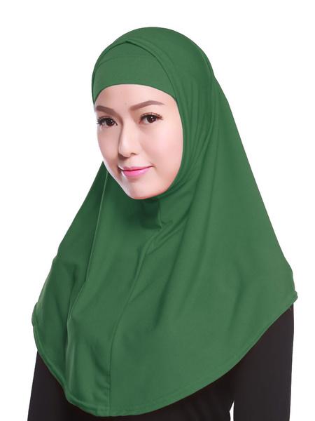 Milanoo Women Two Piece Hijab Solid Color Turban