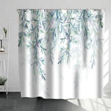 Duschvorhang mit Blatt Muster