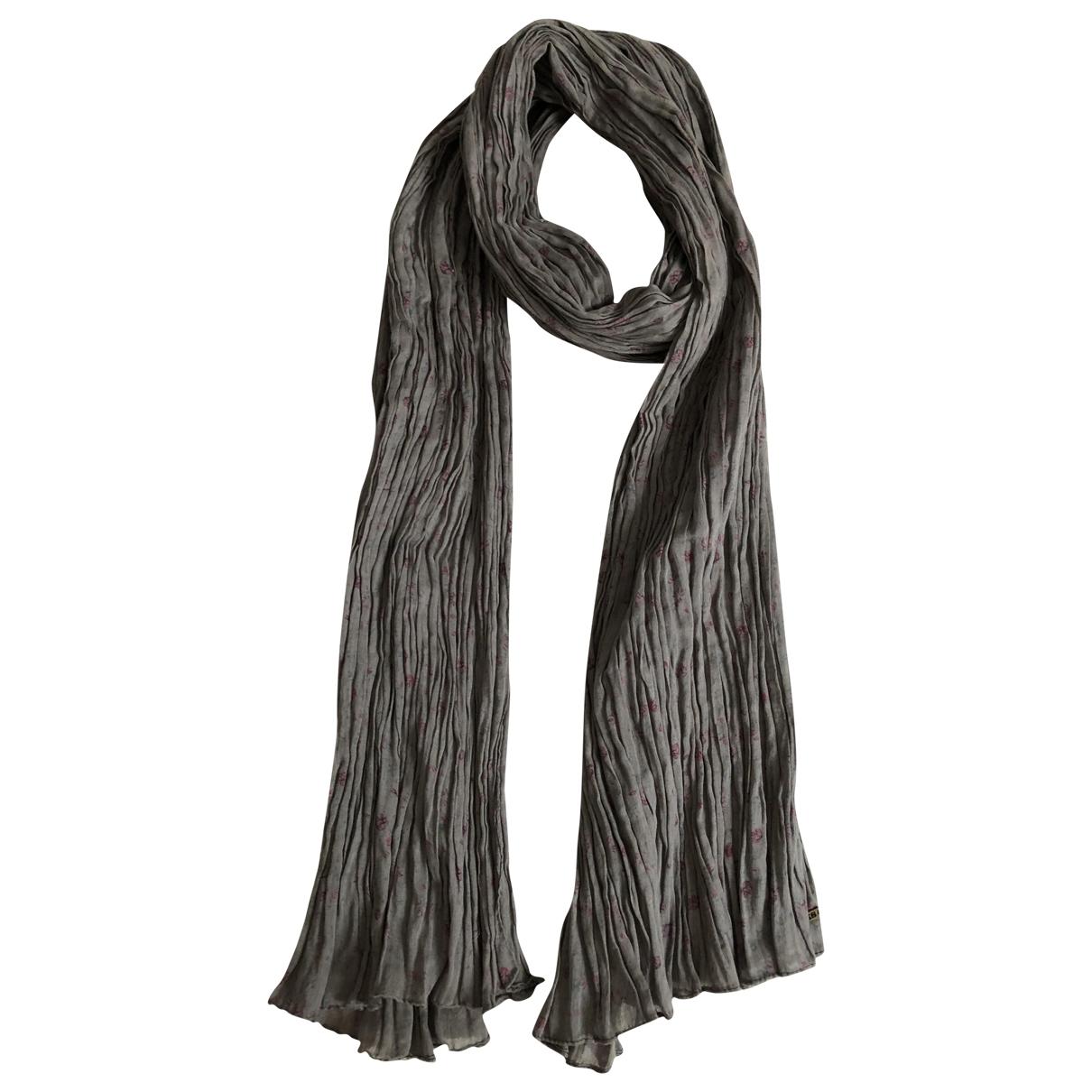 Ikks - Foulard   pour femme en coton - gris