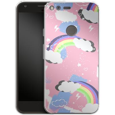 Google Pixel Silikon Handyhuelle - Unicorn Rainbow von Mukta Lata Barua
