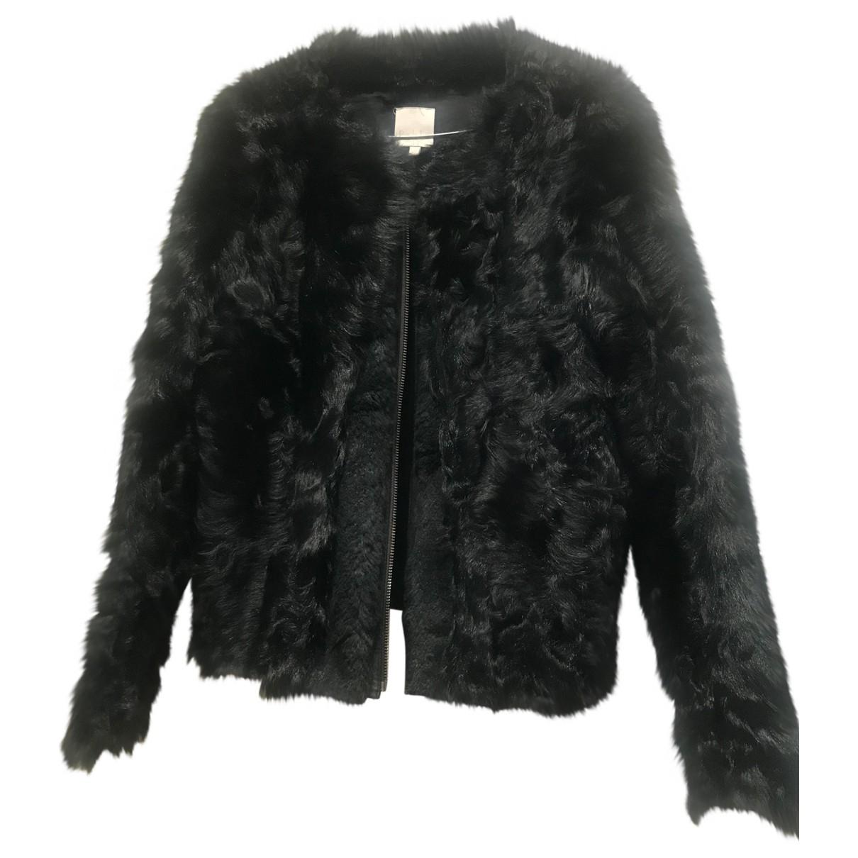 Pablo N Black Mongolian Lamb coat for Women 38 FR