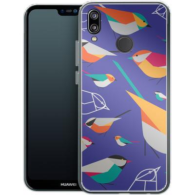 Huawei P20 Lite Silikon Handyhuelle - Birds Talk von Susana Paz