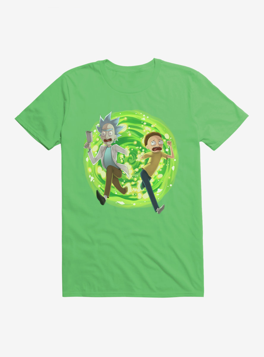 Rick And Morty Exit The Portal T-Shirt