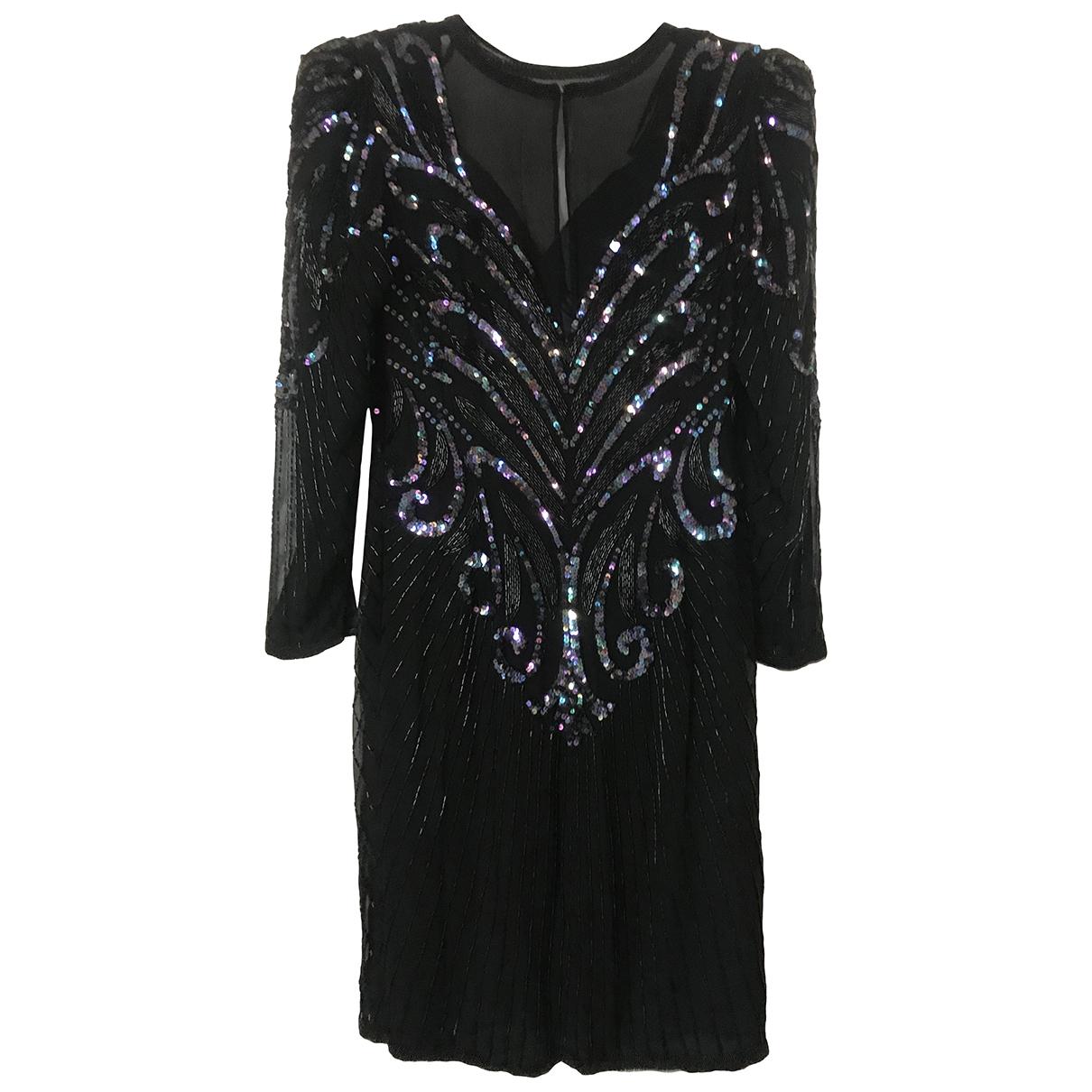 Saks Fifth Avenue Collection \N Kleid in  Schwarz Seide