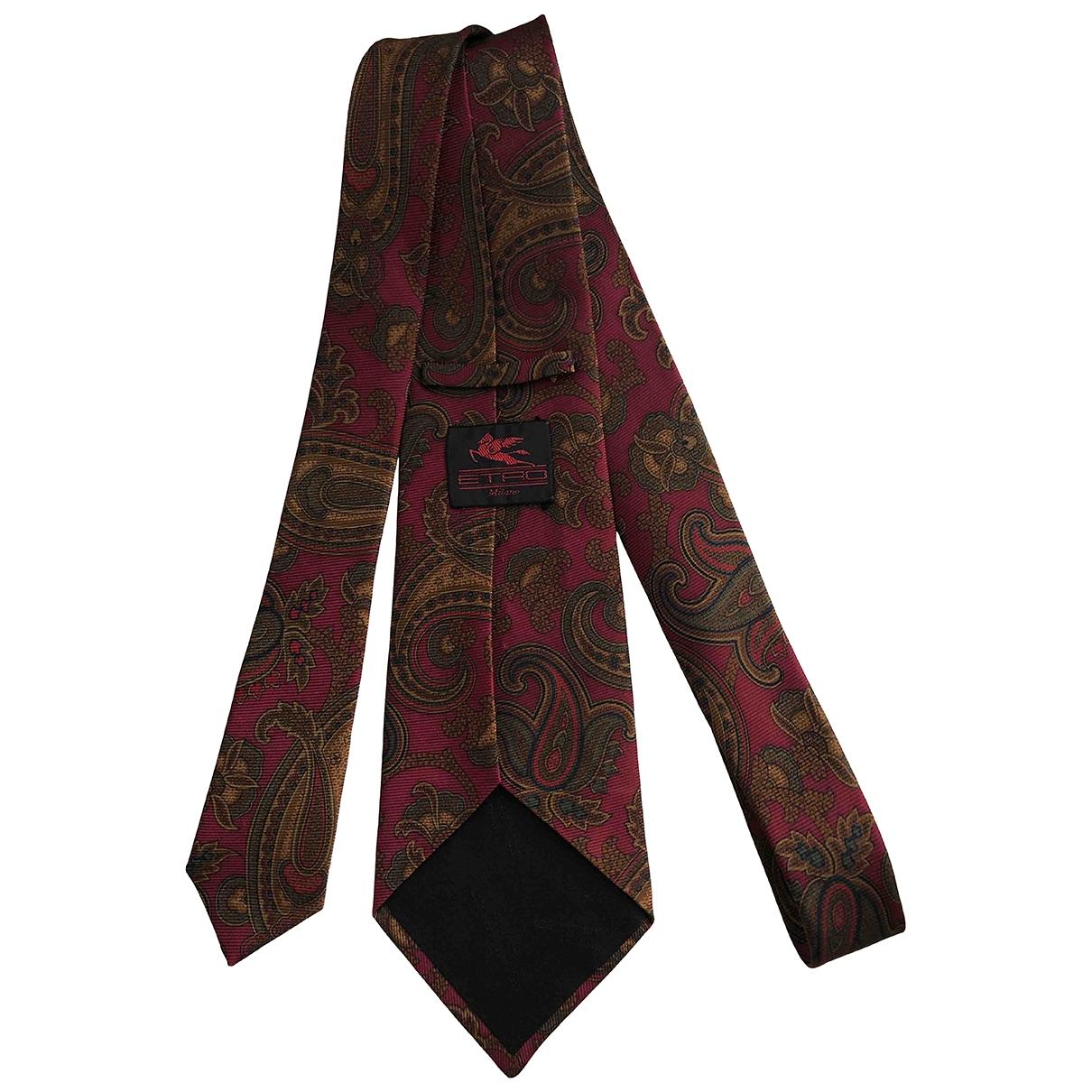 Etro - Cravates   pour homme en soie - rouge