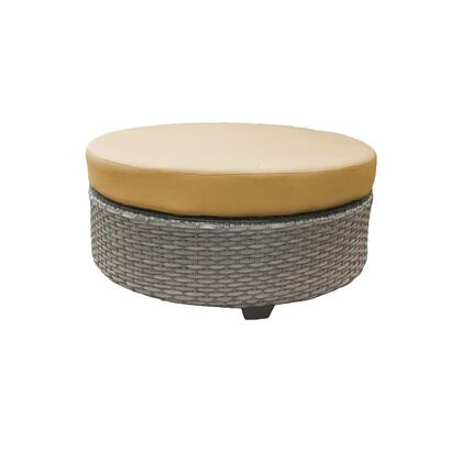TKC055b-CTRND-SESAME Florence Round Coffee Table with 2 Covers: Grey and