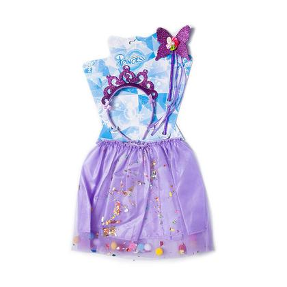 Tutu Jupe avec bandeau et baguette pour Filles, Costumes de fête, Violet - LIVINGbasics™