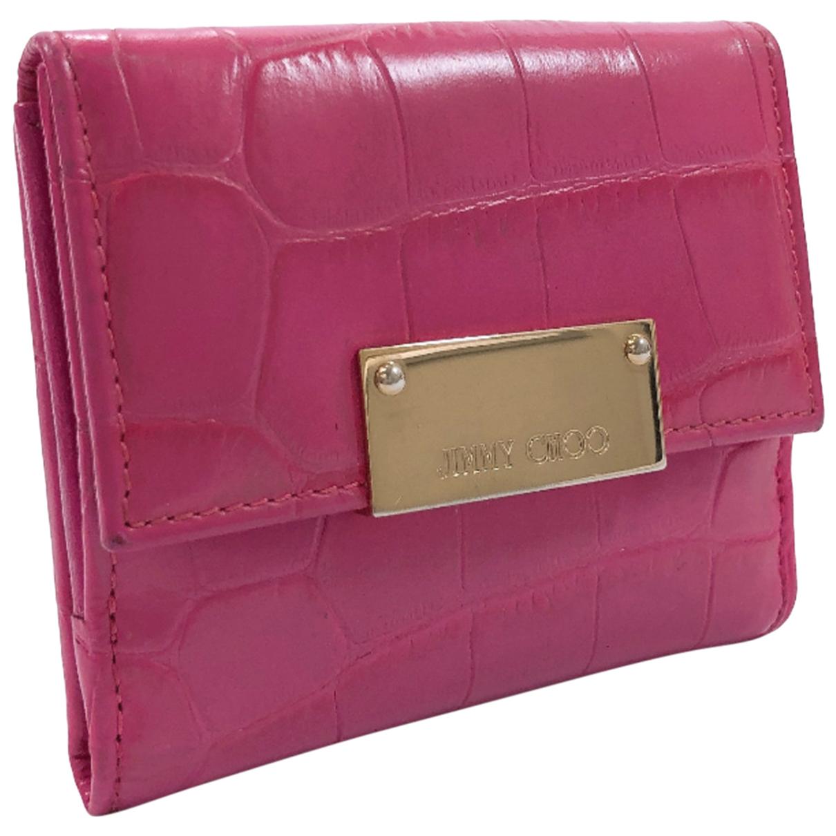 Jimmy Choo - Portefeuille   pour femme en cuir - rose