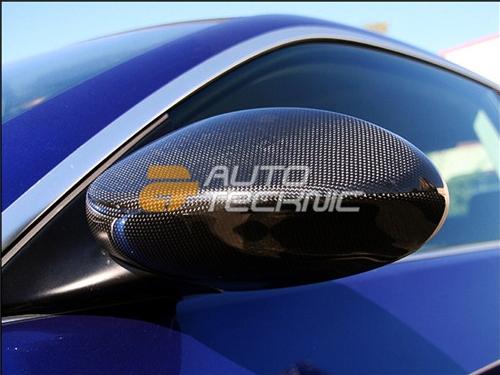 AutoTecknic Full Replacement Carbon Fiber Mirror Covers BMW E92 Coupe | E93 Cabrio | Pre-LCI 3 Series 00-06