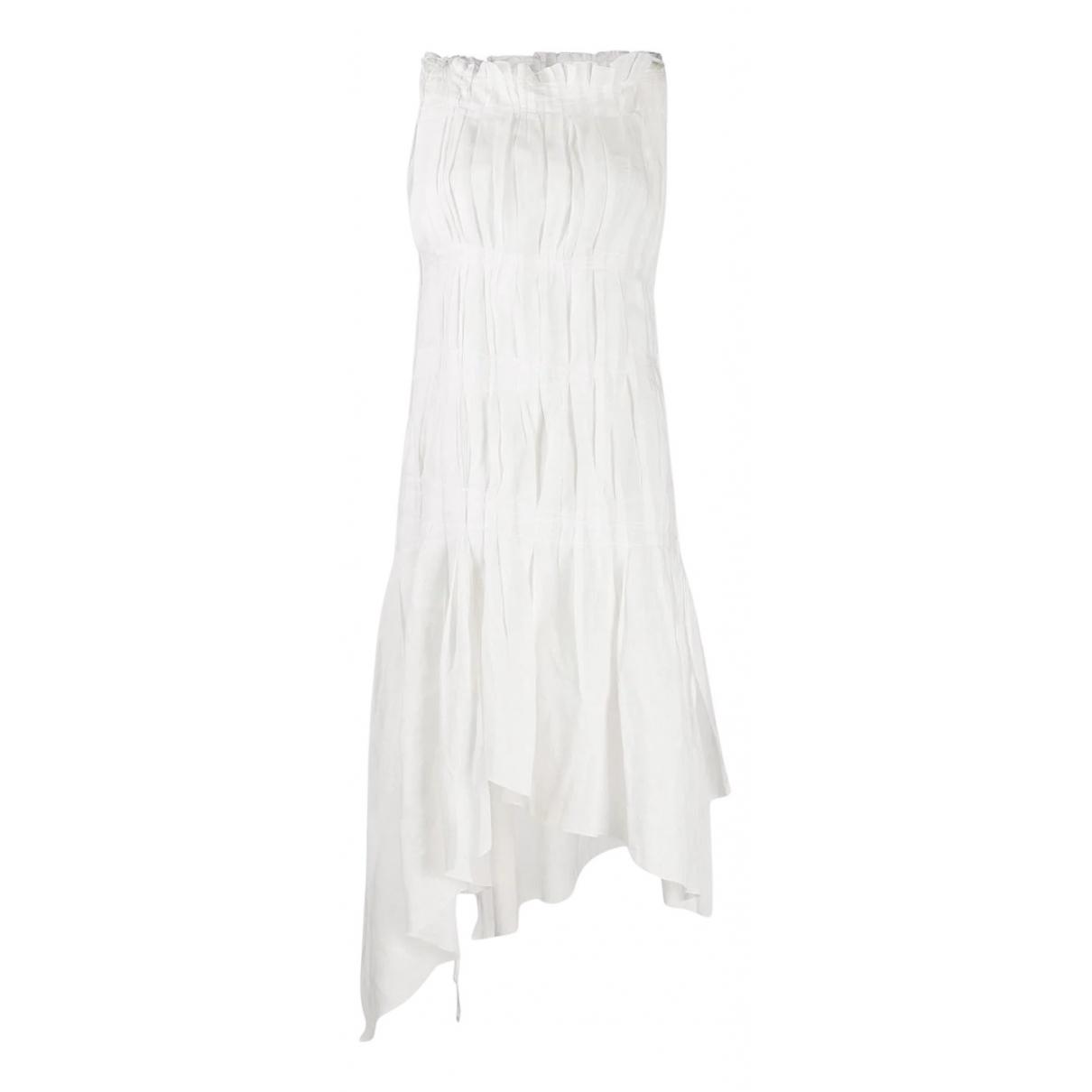 Jean Paul Gaultier - Robe   pour femme en coton - blanc