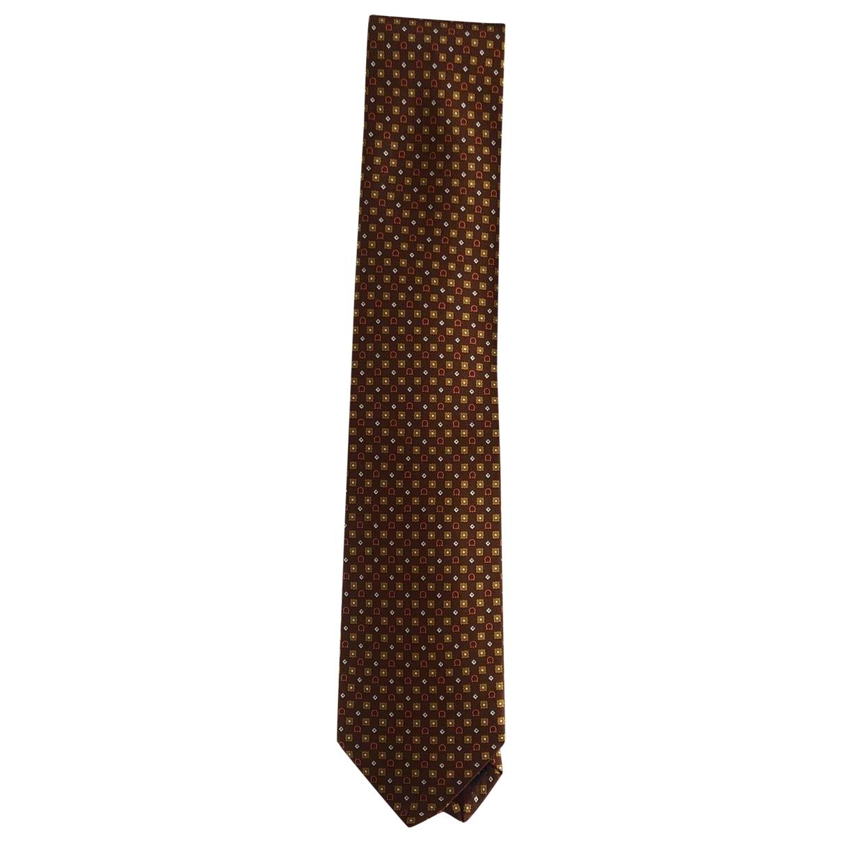 Salvatore Ferragamo \N Krawatten in  Braun Seide