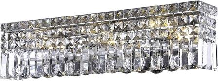 V2032W18C/EC 2032 Maxime Collection Wall Sconce L:18In W:4.5In H:6.25In Lt:3 Chrome Finish (Elegant Cut