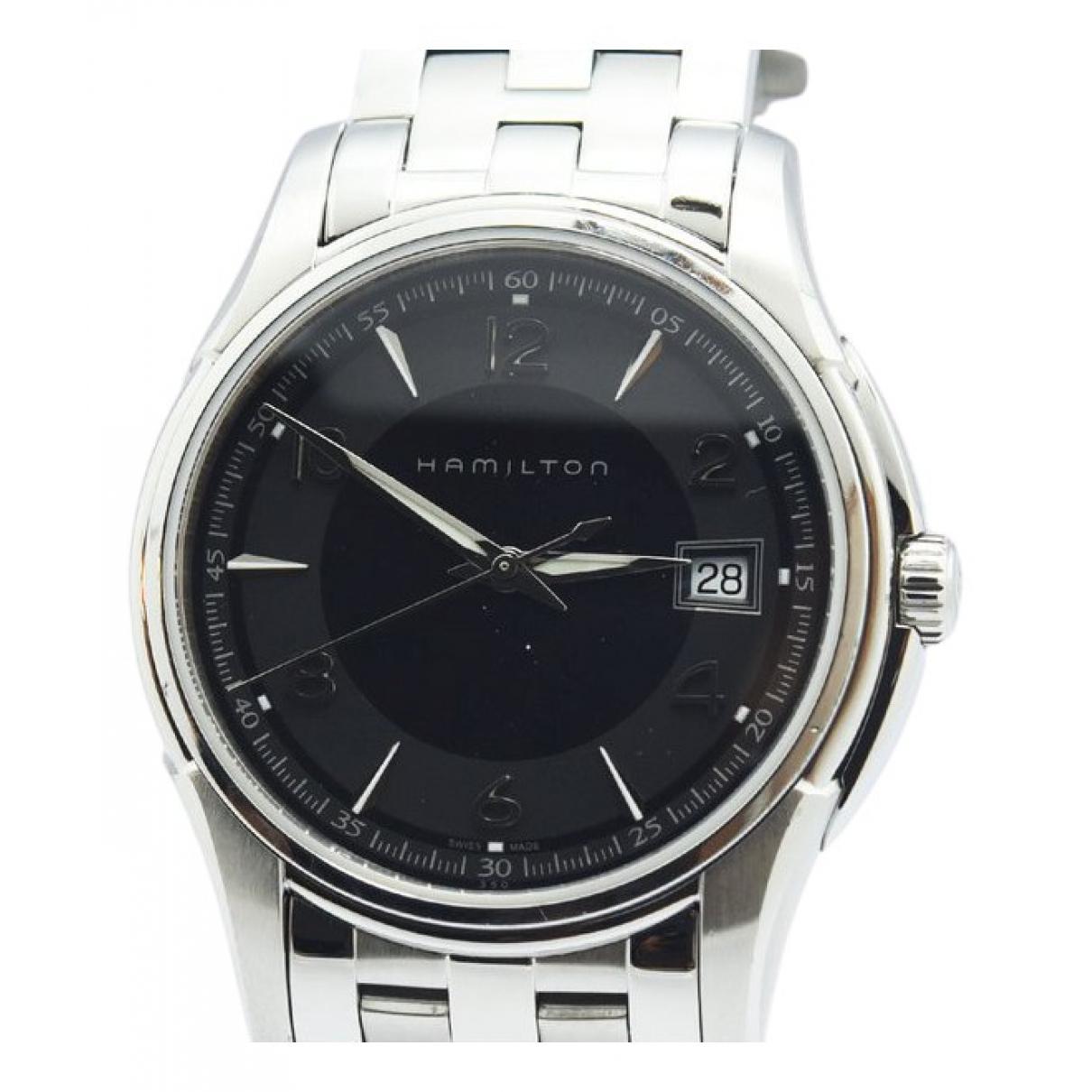 Hamilton Jazzmaster Maestro Chronographe Uhr in  Schwarz Stahl