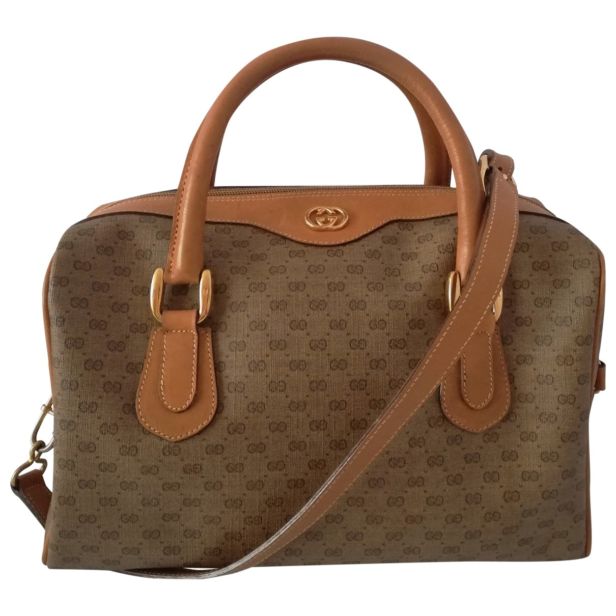 Gucci Boston Brown Cloth handbag for Women N