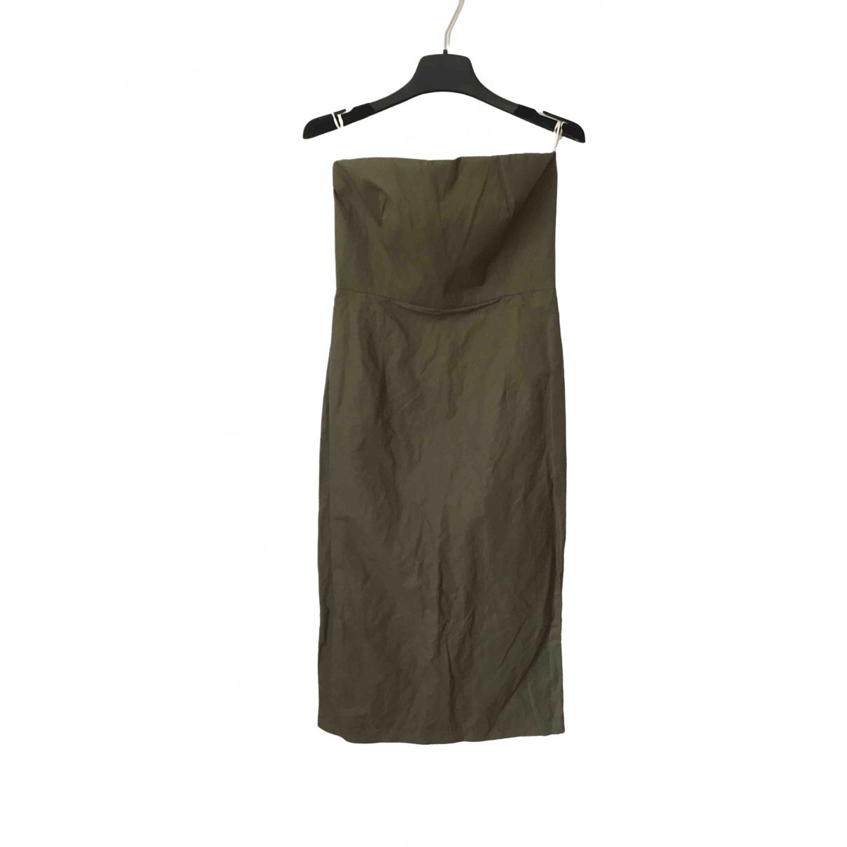 Non Signe / Unsigned \N Kleid in  Khaki Baumwolle