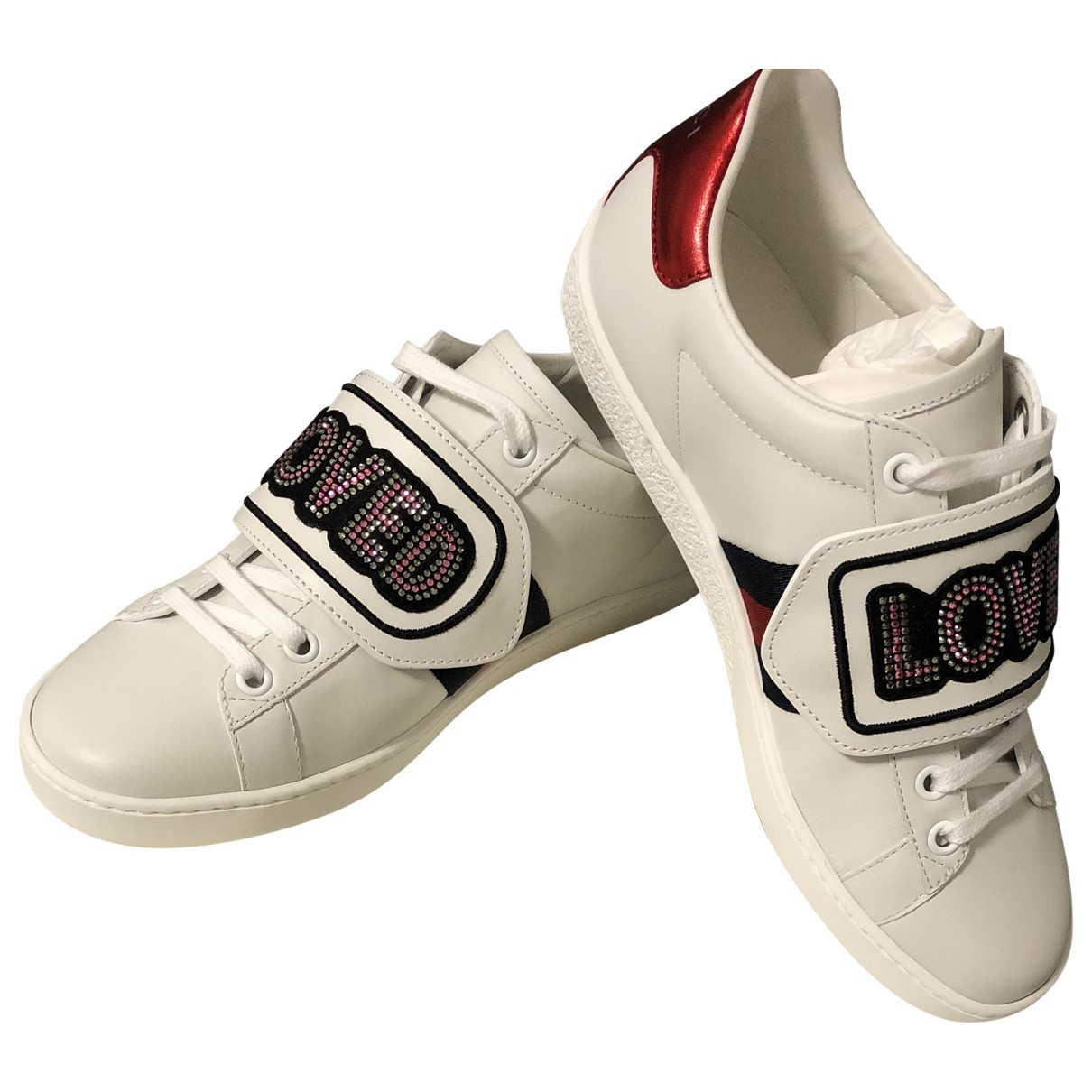 Gucci Ace White Leather Trainers for Women 35.5 IT