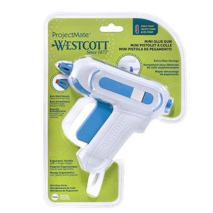Westcott® Premium Safety Mini Hot Glue Gun, High Temp (16758)