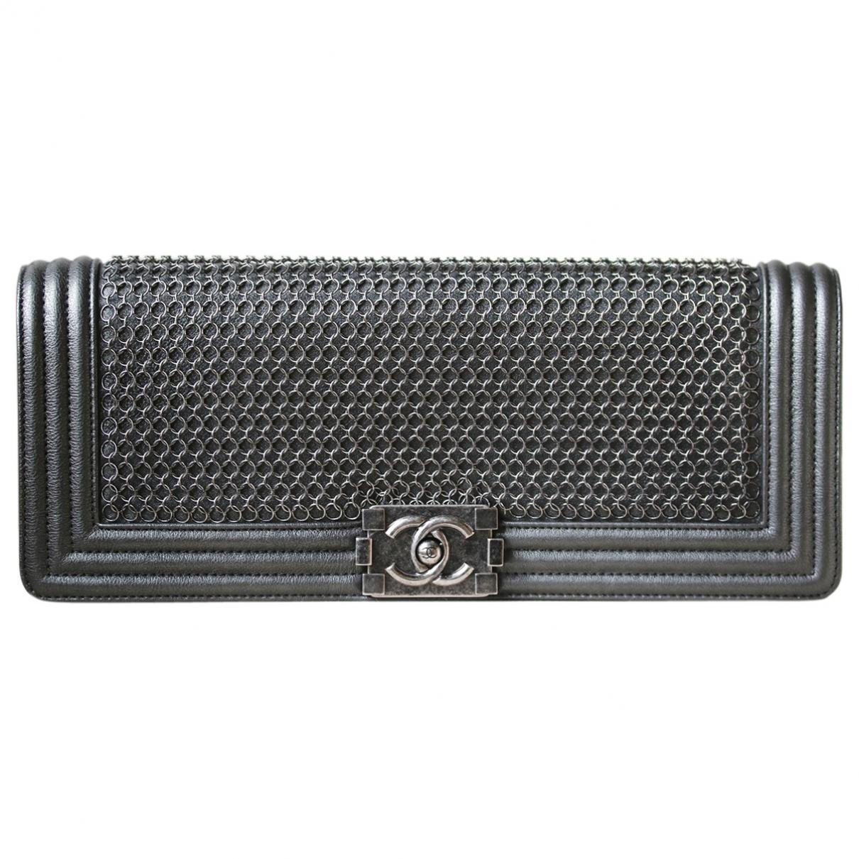 Chanel Boy Metallic Leather Clutch bag for Women \N