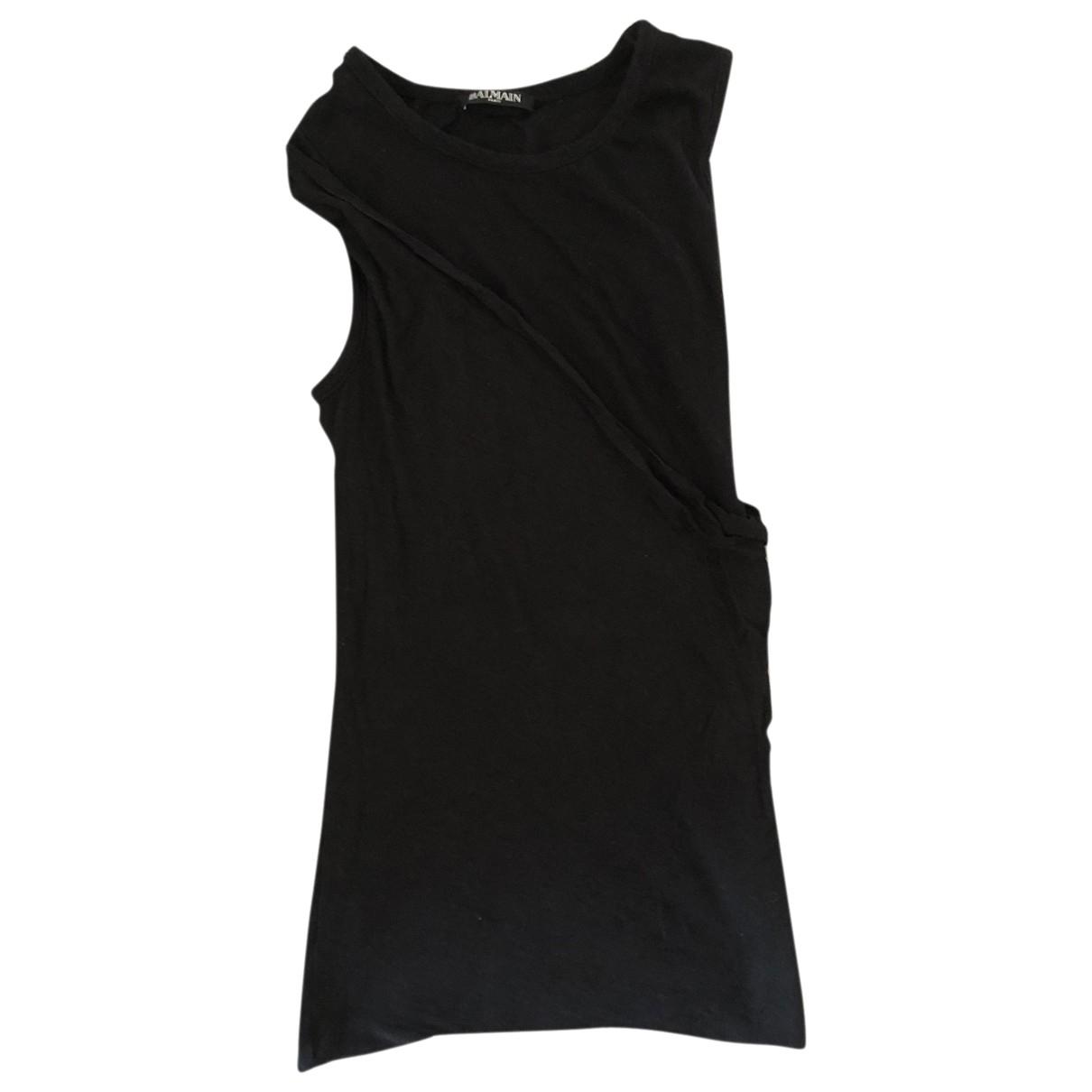 Balmain \N Black Cotton  top for Women 38 IT