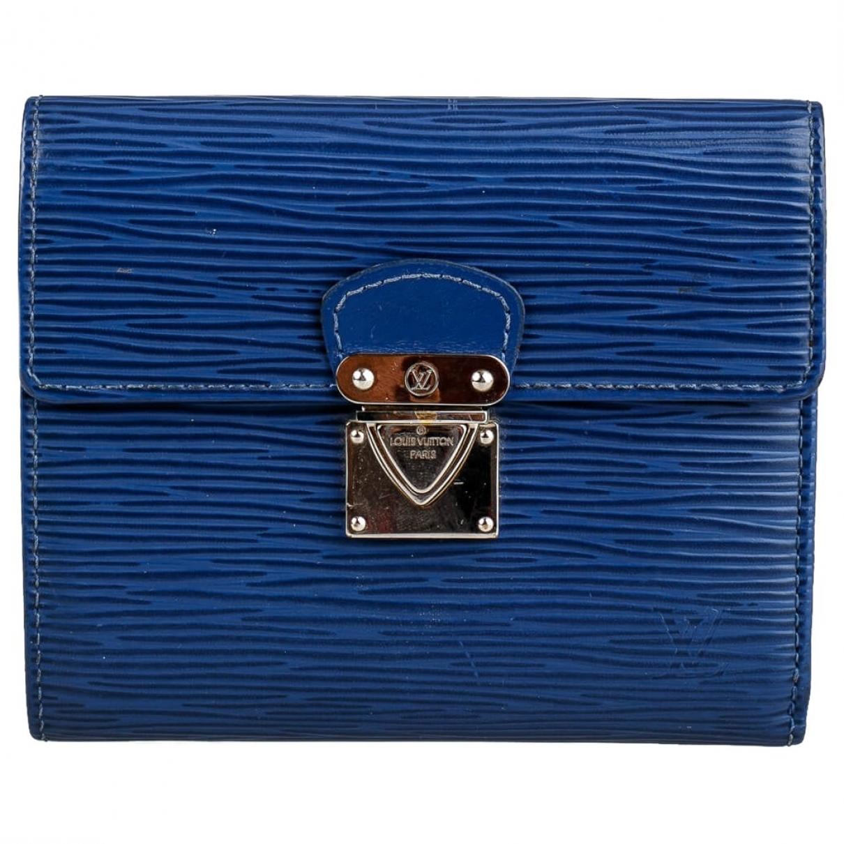 Louis Vuitton - Portefeuille   pour femme en cuir - bleu