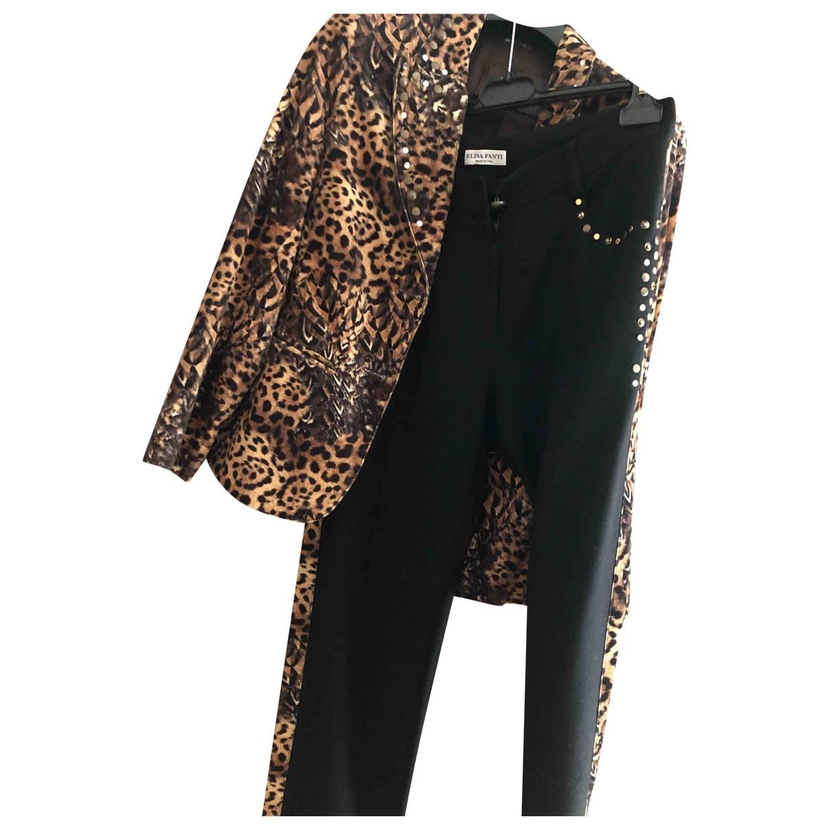 Non Signé / Unsigned Hippie Chic Black Suede dress for Women 42 IT