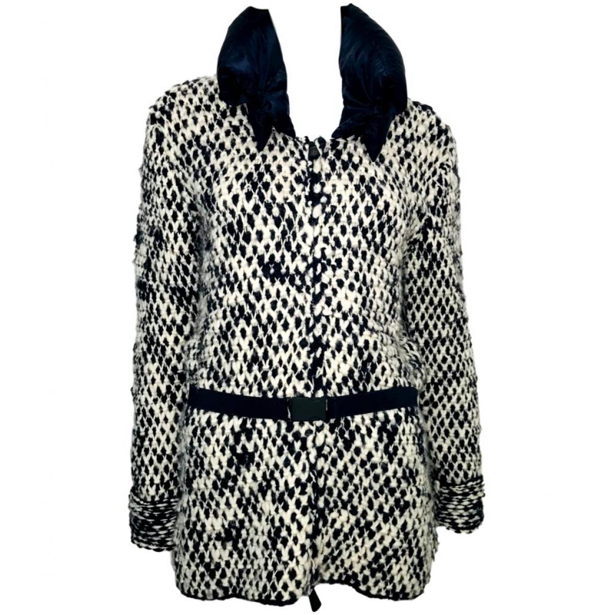 Moncler - Manteau   pour femme en laine - noir
