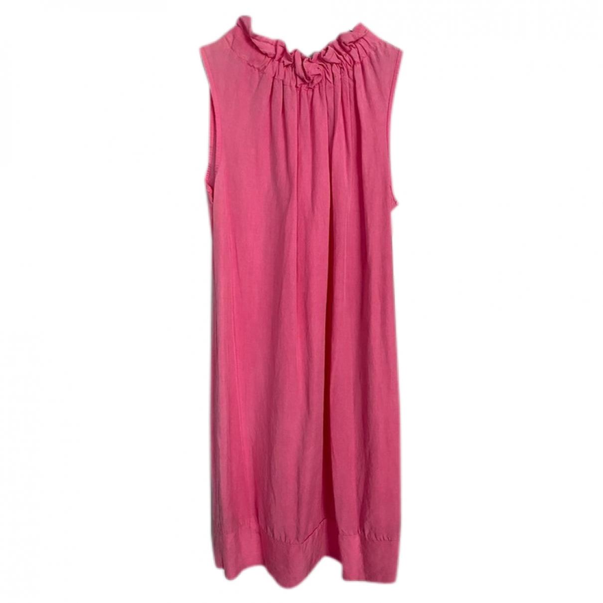 - Robe   pour femme en denim - rose
