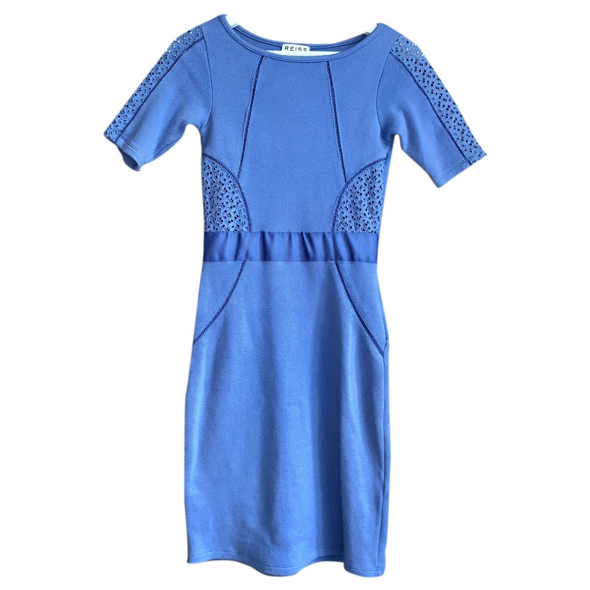 Reiss \N Kleid in  Blau Baumwolle