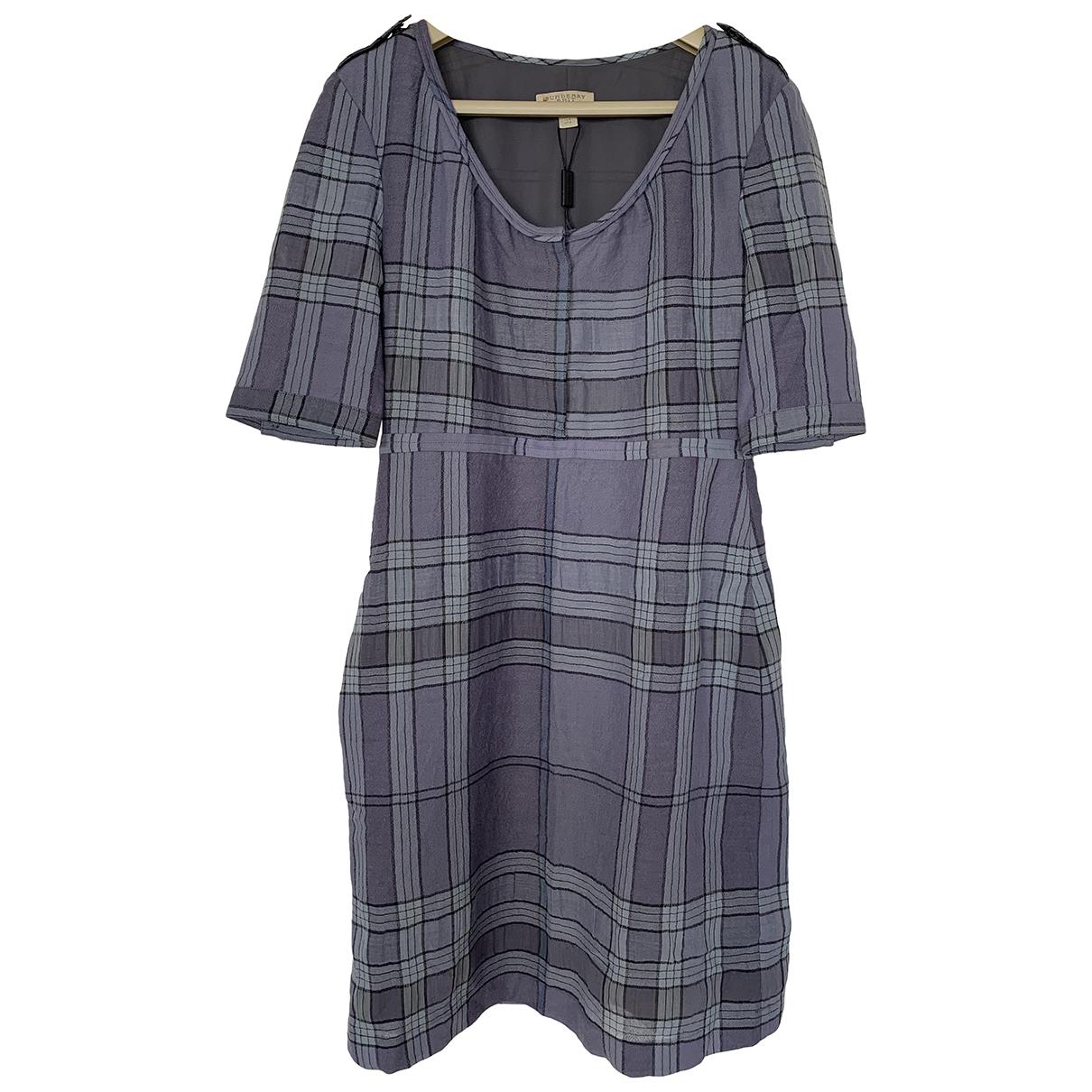 Burberry - Robe   pour femme en laine - bleu