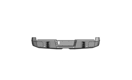 Flog Industries FISD-F2535-1719R-s 17-19 Ford F-250/F-350 Rear Bumper with Sensors