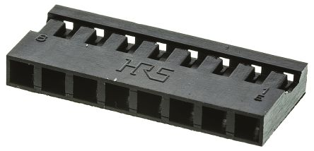Hirose , A4B Female Connector Housing, 2mm Pitch, 8 Way, 1 Row (5)