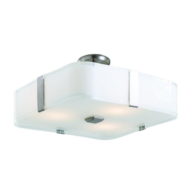 DVI  DVP18012SNSSOP Three Light Semi Flushmount Kii Satin NickelStain - One Size (One Size - Clear)