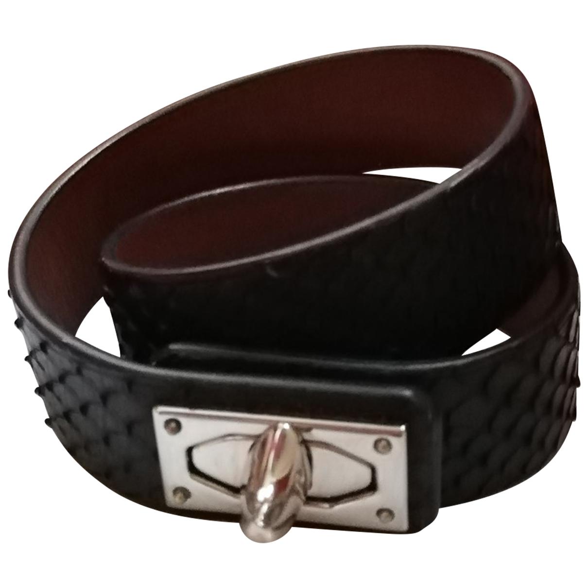 Givenchy - Bracelet Shark pour femme en python - noir
