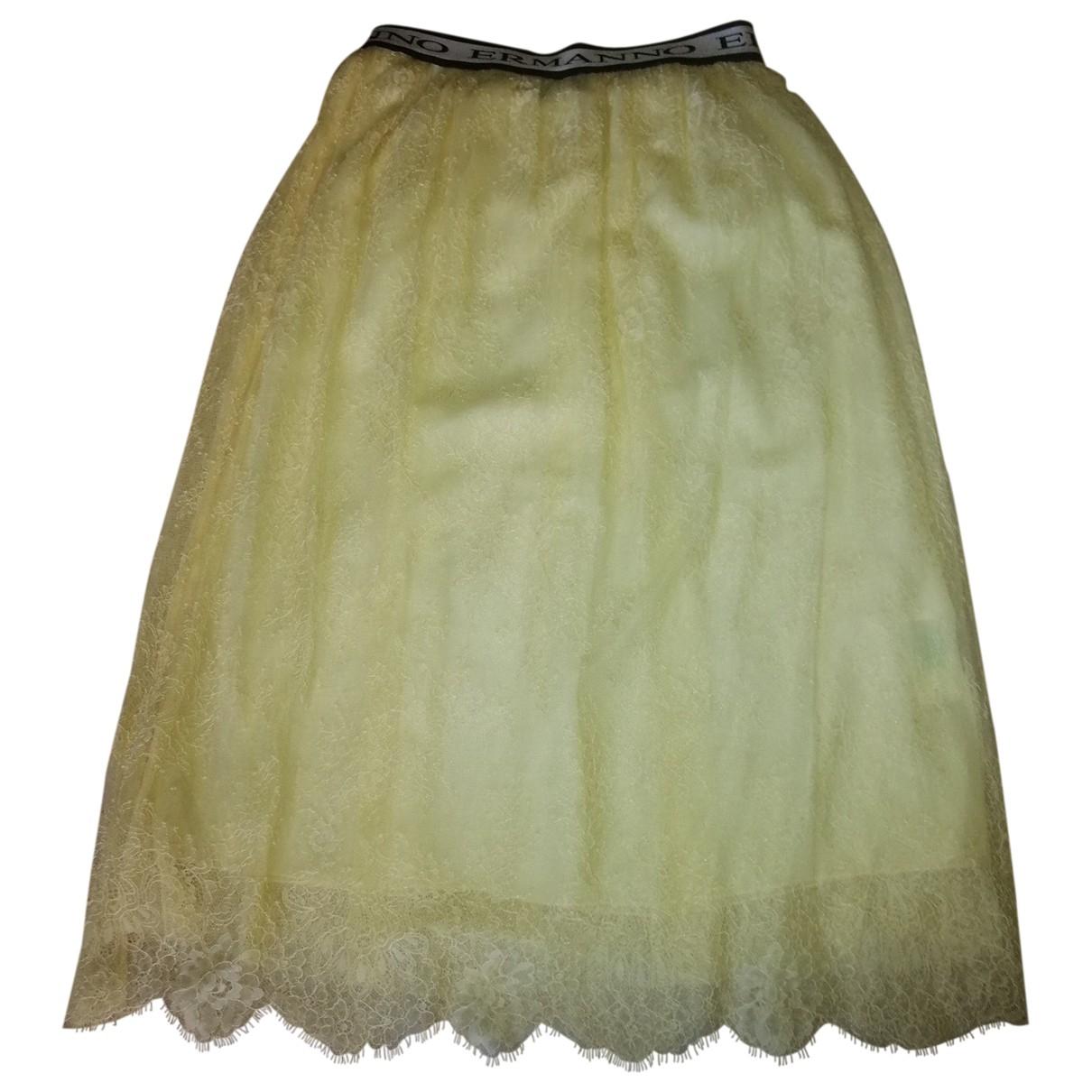 Ermanno Scervino - Jupe   pour femme - jaune