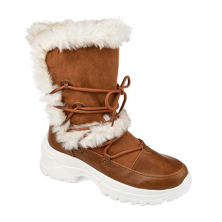 Journee Collection Womens Polar Winter Boots, 6 Medium, Brown