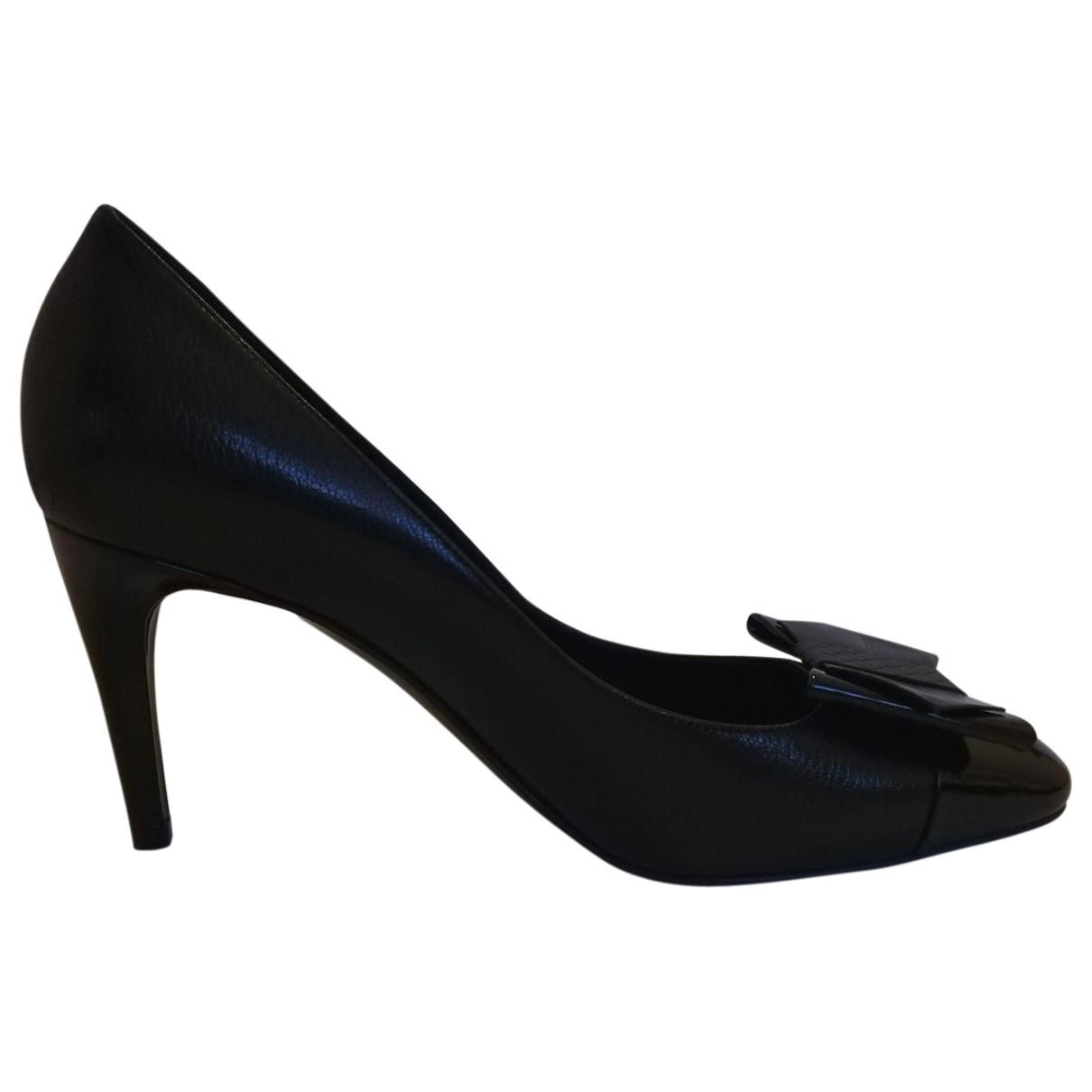 Bottega Veneta \N Black Leather Heels for Women 40.5 EU
