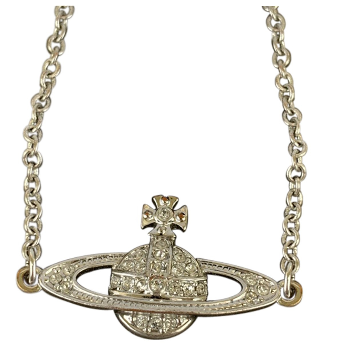 Vivienne Westwood N Silver Metal necklace for Women 18-20 UK