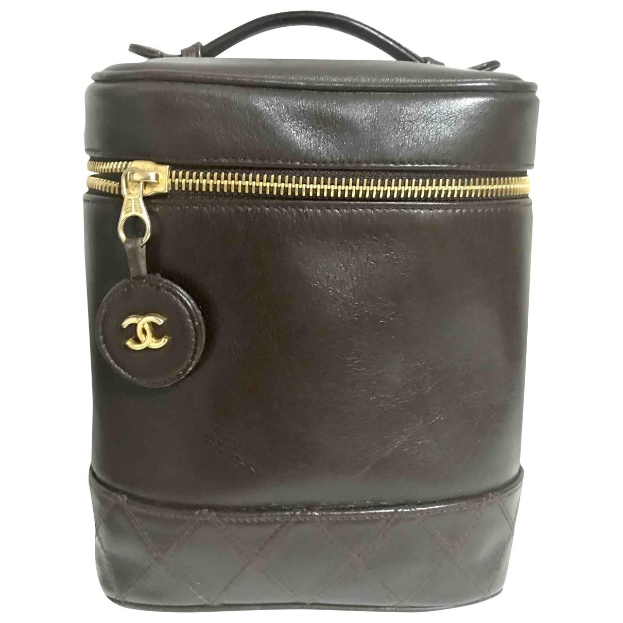 Chanel - Sac de voyage   pour femme en cuir - marron