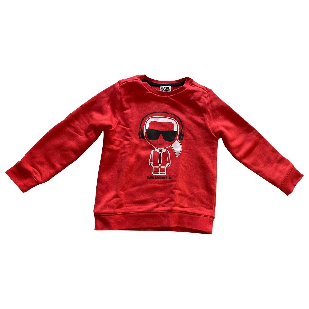 Karl - Pull   pour enfant en coton - rouge